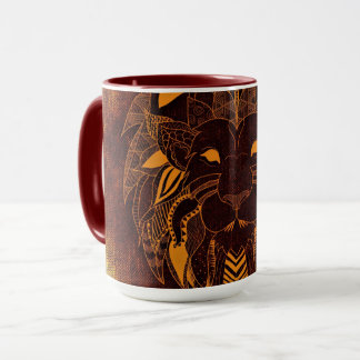 Lion's Head Red 15 oz Combo Mug