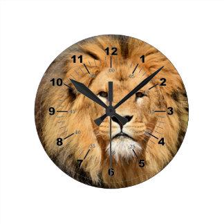 Lions Head Round Clock