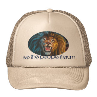 lions head truckers hat