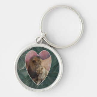 Lions Heart Silver-Colored Round Key Ring
