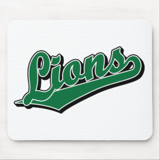 Lions in Green Mouse Mat