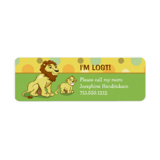 Lions Kids Return Address Label