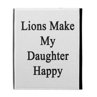Lions Make My Daughter Happy iPad Folio Case