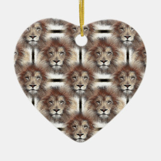 Lion's Mane Design Ceramic Heart Decoration