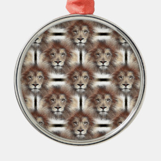 Lion's Mane Design Christmas Ornament