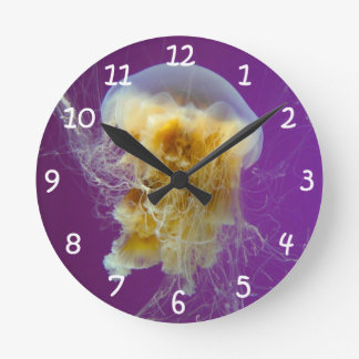 Lion's Mane Jellyfish Round Clock