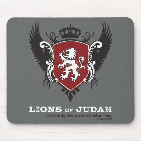 Lions of Judah Mousepad - Dark Grey
