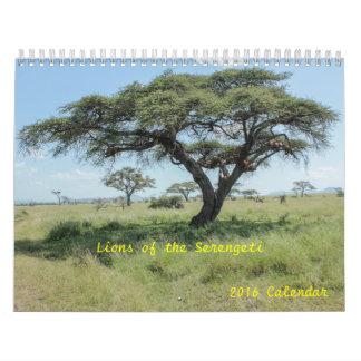 Lions of the Serengeti 2016 wildlife Calendar