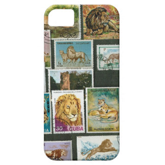 Lions on stamps iPhone 5 cover