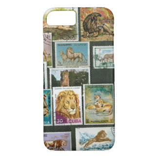 Lions on stamps iPhone 7 case
