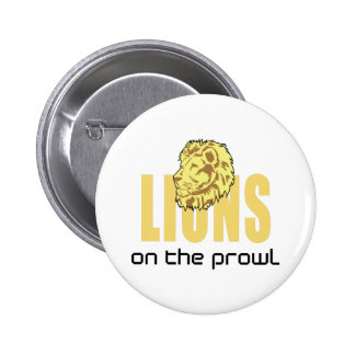LIONS ON THE PROWL PINBACK BUTTONS