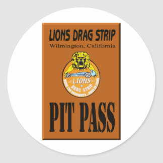 Lions Pit Pass Stickers