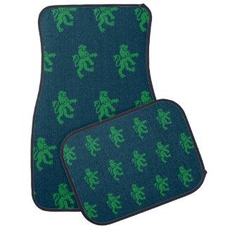 Lions Symbol blue green Floor Mat