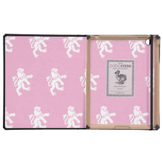 Lions Symbol pink white iPad Cases