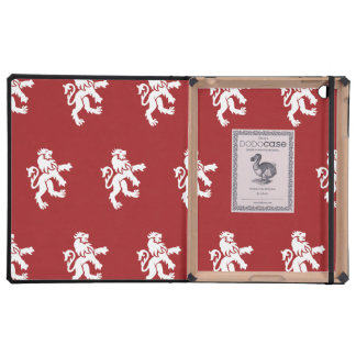 Lions Symbol red white Cases For iPad