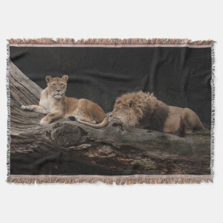 LIONS THROW BLANKET