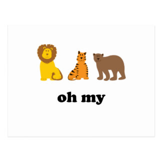 Lions Tigers Bears Oh My Postcard