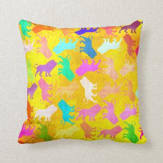 Lions Tropical Soho Bohemian Yellow Lemon Throw Pillow
