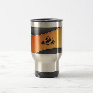 Lionshead On Orange Curved Background Stainless Steel Travel Mug