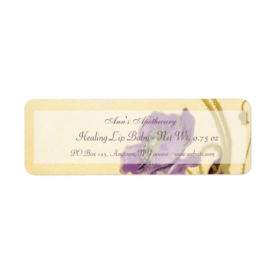 Lip Balm or Skin Products Label Return Address Label