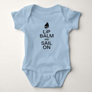 Lip Balm & Sail On Baby Bodysuit