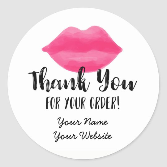Lip Business Thank You Stickers, Lips, Lipstick Classic