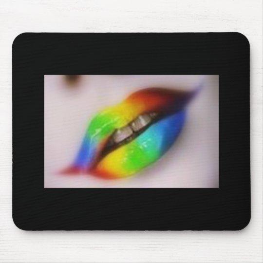 lip colour mouse pad
