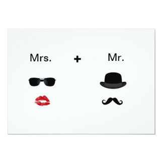 Lip Moustache Wedding Invitations