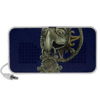 Lip plug of bird god iPhone speakers