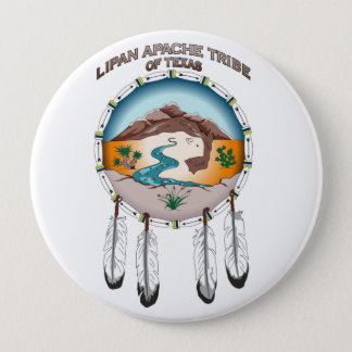 Lipan Apache Tribe of Texas 4 Inch Round Button