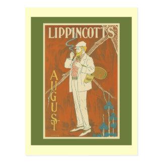 Lippincott's Magazine Tennis Cover Post Card