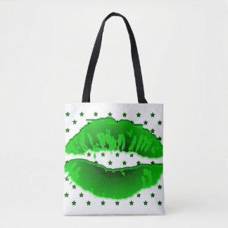 Lips All-Over-Print Tote Bag