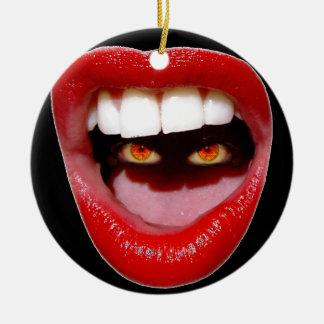 Lips and Eyes/STFU Christmas Ornament