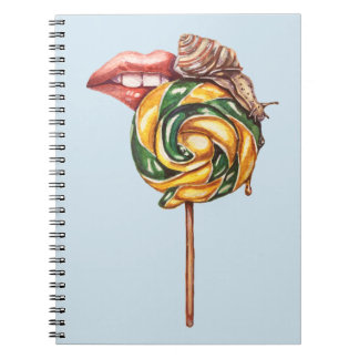 Lips and snail notebook