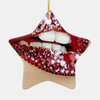 lips christmas ornament