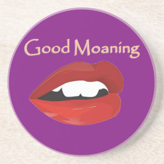 Lips Good Moaning To You Sandstone Coaster