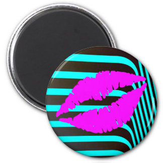 Lips kiss beauty fashion glamour girly trendy magnet