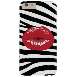 Lips kiss zebra fashion glamour trendy girly barely there iPhone 6 plus case