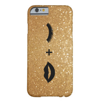 Lips + Lashes Graphic Barely There iPhone 6 Case