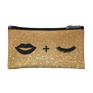 Lips + Lashes Graphic Makeup Bag