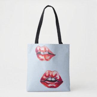 lips lips tote bag