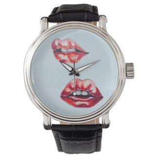 lips lips wristwatch