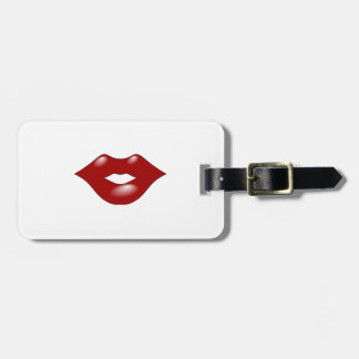 Lips Luggage Tag