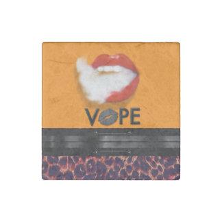 Lips Smoke Vape Leopard Stone Magnet