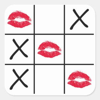 Lips Tic Tac Toe Sticker
