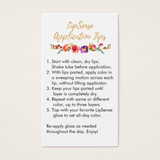 LipSense Application & Tips Card