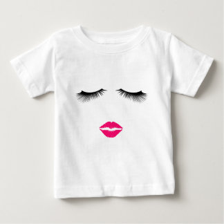 Lipstick and Eyelashes Baby T-Shirt