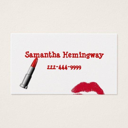 Lipstick business card