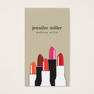 Lipstick Collage for Makeup Artist and Beauty Business Card