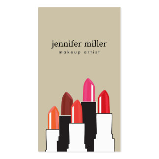 Lipstick Collage for Makeup Artist and Beauty Pack Of Standard Business Cards
